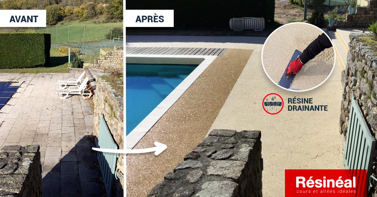 Am nagement contour de piscine r sine drainante for Amenagement contour maison