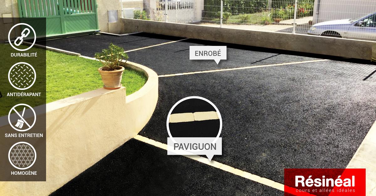 aménagement accès de garage et stationnement à l'enrobé