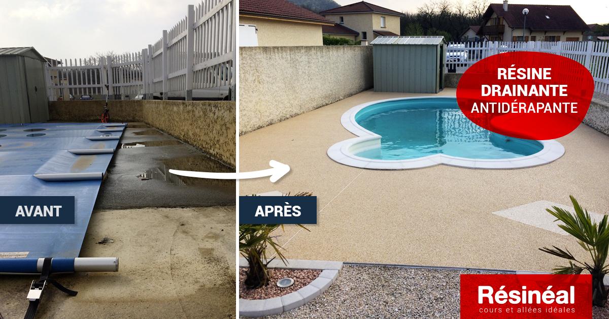 réalisation contour de piscine antidérapant