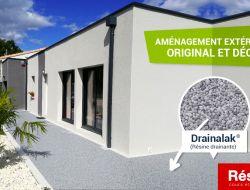 réalisation de terrasse en résine drainante