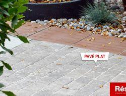 aménagement terrasse en pavé plat granit